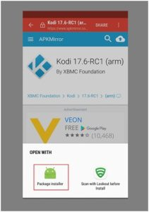 How to install Kodi App on Android
