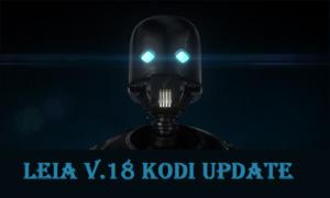 Latest Kodi Update is Leia v18