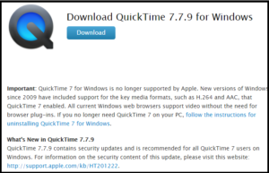 QuickTime for Windows 10 Download and Install