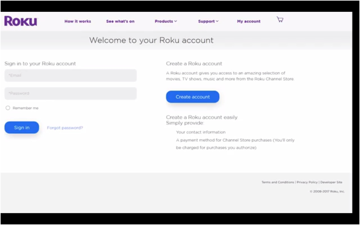 roku how to get private channel