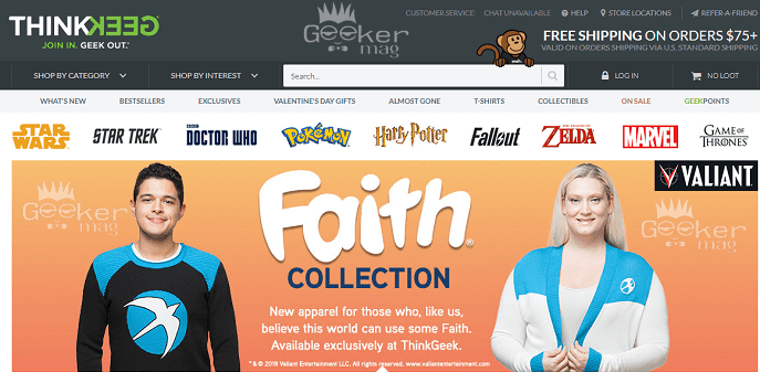 Sites like ThinkGeek