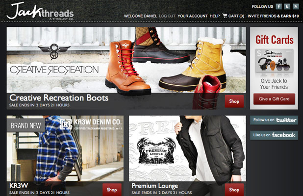 Sites like JackThreads
