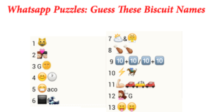 WHATSAPP PUZZLES