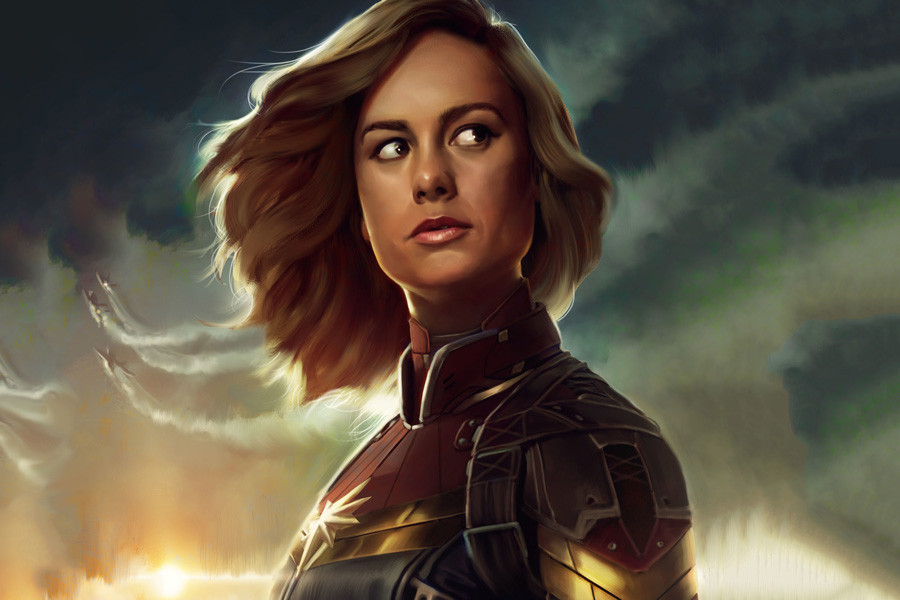 HD wallpaper captain-marvel-2019