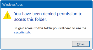 You Have Been Denied Permission To Access This Folder In Windows 10