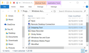 Keyboard shortcut for Snipping tool in Windows
