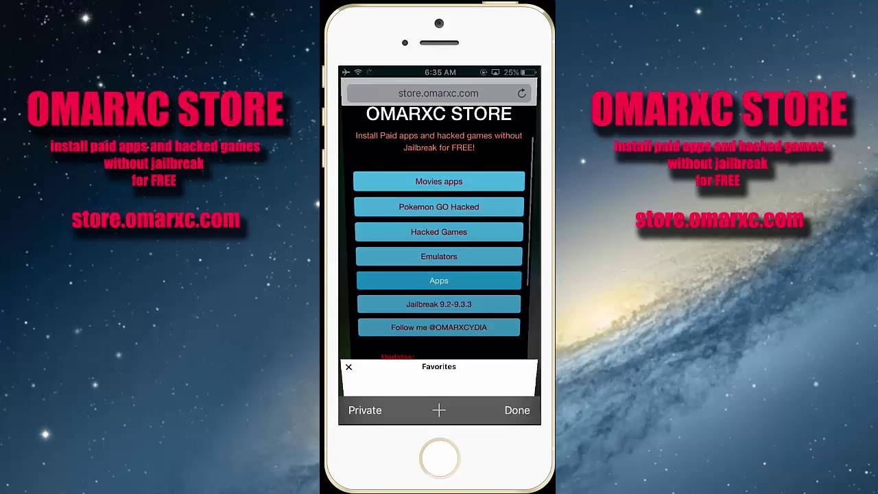 Store Omarxc Free Download for iOS & iPad No Jailbreak