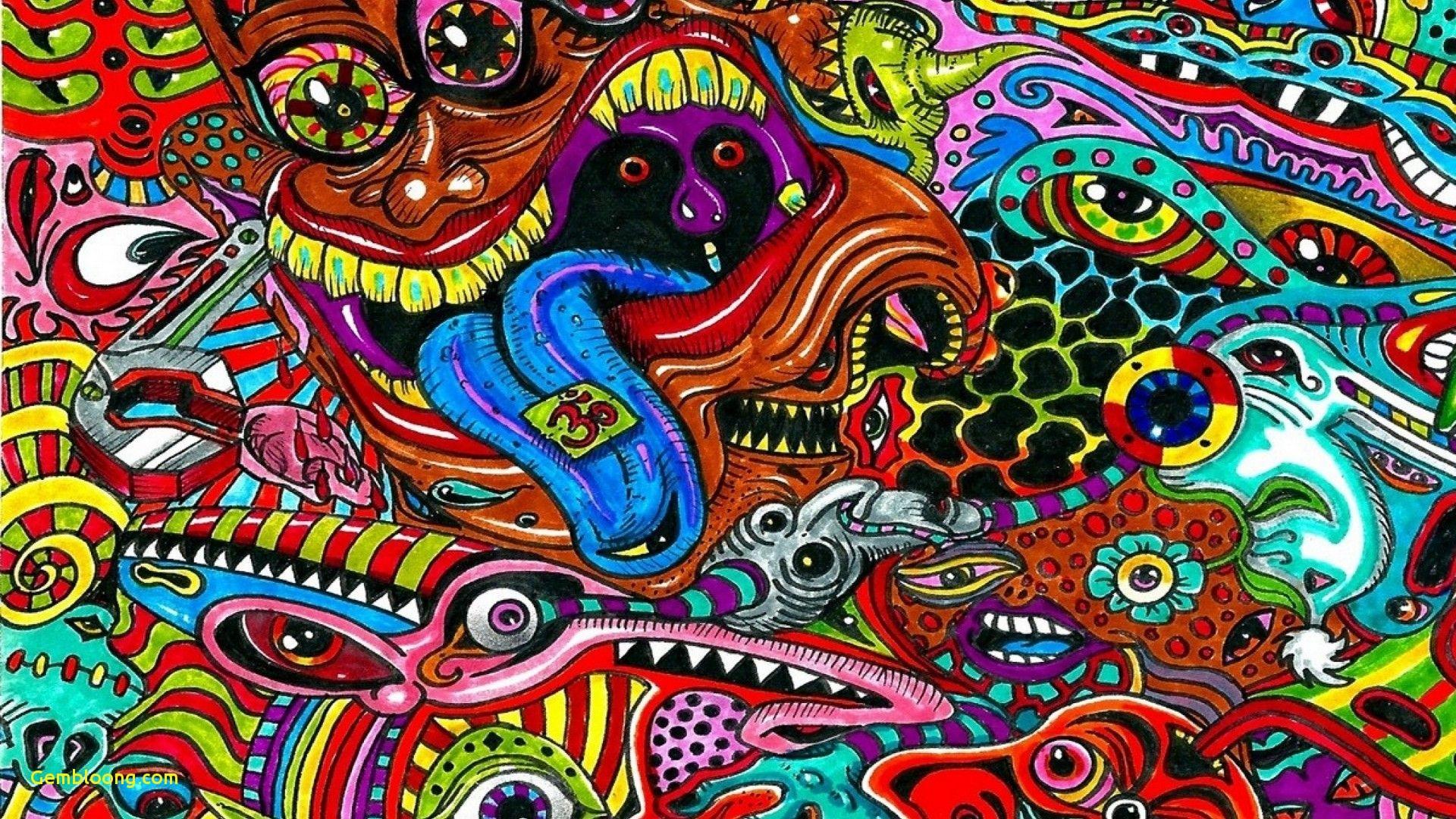 Psychedelic art wallpaper