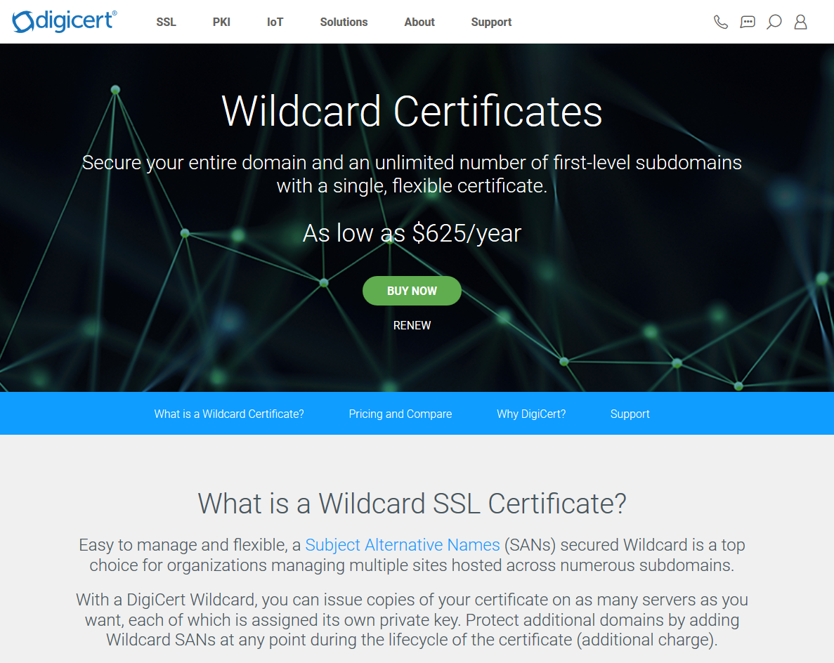 DigiCert Wildcard SSL Certificates