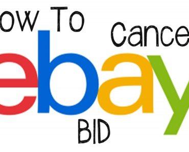 how to cancel a bid on ebay