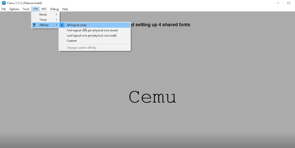 configuration of Cemu