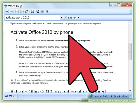Activate Microsoft Office 2010