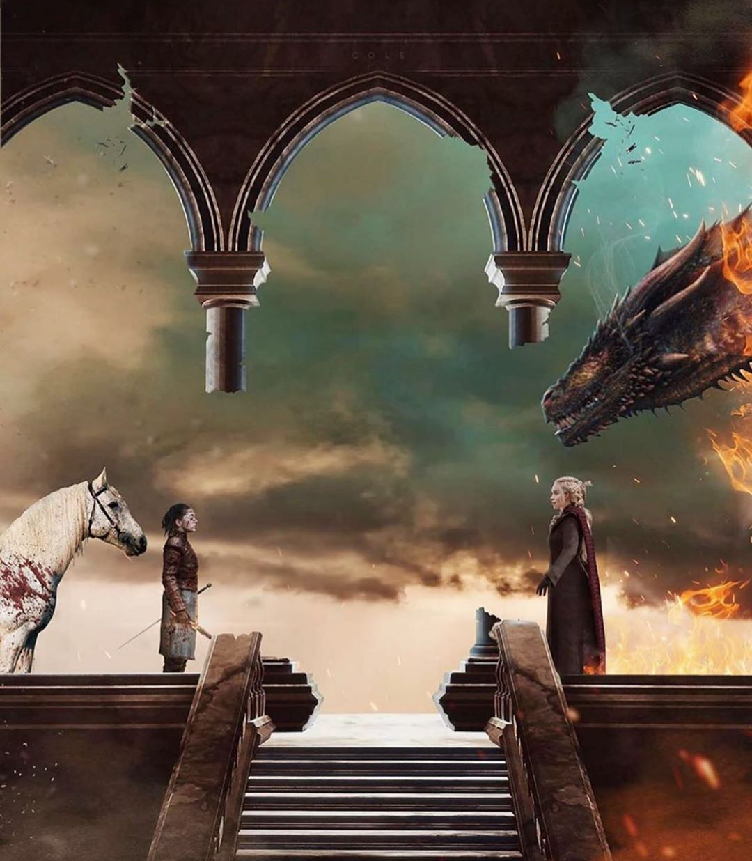 Game Of Thrones Season 8 Finale Wallpaper Dany Arya