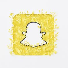 Snapchat Icon Aesthetic yellow