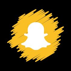 Snapchat Icon Aesthetic yellow