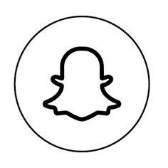 snapchat aesthetic icon white