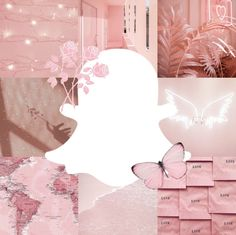 snapchat icon aesthetic pink pastel