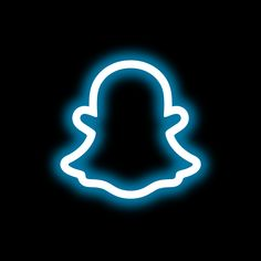 snapchat icon neon