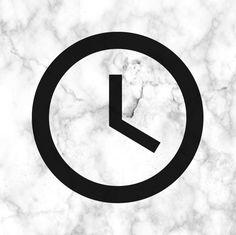Aesthetic clock icon black