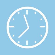 Aesthetic clock icon blue