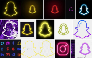 Best Neon Snapchat Logo for iPhone